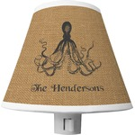 Octopus & Burlap Print Shade Night Light (Personalized)