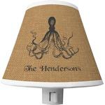 Octopus & Burlap Print Shade Night Light (Personalized)