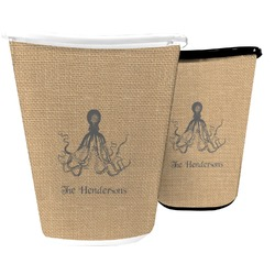 Octopus & Burlap Print Waste Basket (Personalized)