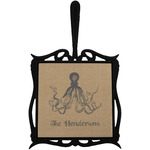 Octopus & Burlap Print Trivet with Handle (Personalized)