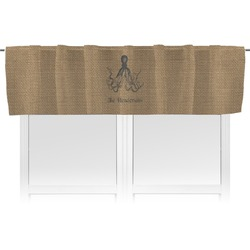 Octopus & Burlap Print Valance (Personalized)