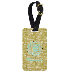Happy New Year Metal Luggage Tag w/ Name or Text