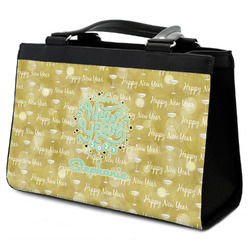 Happy New Year Classic Tote Purse w/ Leather Trim w/ Name or Text