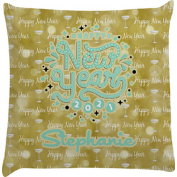 Happy New Year Decorative Pillow Case w/ Name or Text