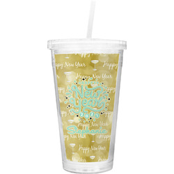 Happy New Year Double Wall Tumbler with Straw (Personalized)