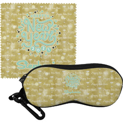 Happy New Year Eyeglass Case & Cloth w/ Name or Text
