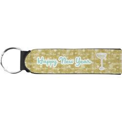 Happy New Year Neoprene Keychain Fob (Personalized)