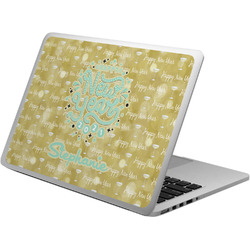 Happy New Year Laptop Skin - Custom Sized w/ Name or Text