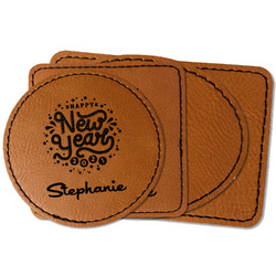 Happy New Year Faux Leather Iron On Patch (Personalized)