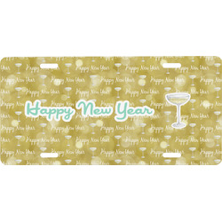 Happy New Year Front License Plate (Personalized)