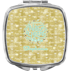 Happy New Year Compact Makeup Mirror w/ Name or Text