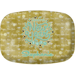 Happy New Year Melamine Platter w/ Name or Text
