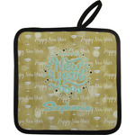 Happy New Year Pot Holder w/ Name or Text