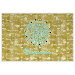 Happy New Year Laminated Placemat w/ Name or Text