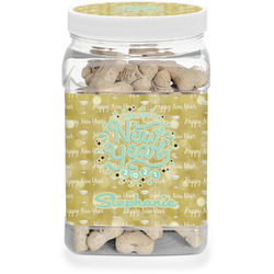 Happy New Year Dog Treat Jar w/ Name or Text