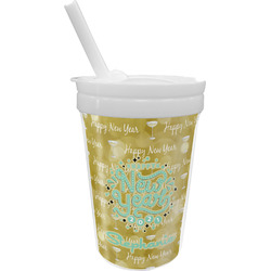 Happy New Year Sippy Cup with Straw (Personalized)