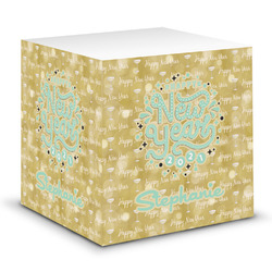 Happy New Year Sticky Note Cube w/ Name or Text