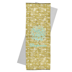 Happy New Year Yoga Mat Towel w/ Name or Text