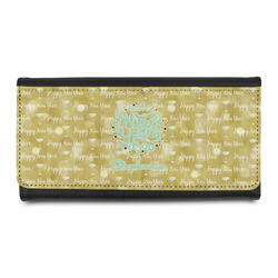 Happy New Year Leatherette Ladies Wallet w/ Name or Text