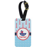 Light House & Waves Aluminum Luggage Tag (Personalized)
