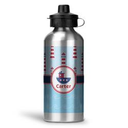 Light House & Waves Water Bottle - Aluminum - 20 oz (Personalized)