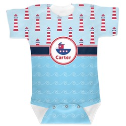 Light House & Waves Baby Bodysuit (Personalized)