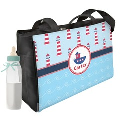 Light House & Waves Diaper Bag (Personalized)