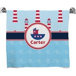 Light House & Waves Full Print Bath Towel (Personalized)