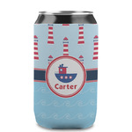 Light House & Waves Can Sleeve (12 oz) (Personalized)