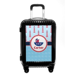 Light House & Waves Carry On Hard Shell Suitcase (Personalized)