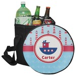 Light House & Waves Collapsible Cooler & Seat (Personalized)