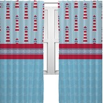 Light House & Waves Curtains (2 Panels Per Set) (Personalized)