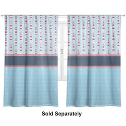 """Light House & Waves Curtains - 40""""x54"""" Panels - Unlined (2 Panels Per Set) (Personalized)"""