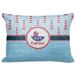 "Light House & Waves Decorative Baby Pillowcase - 16""x12"" (Personalized)"