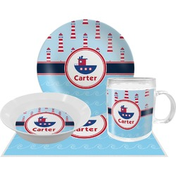 Light House & Waves Dinner Set - 4 Pc (Personalized)