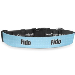 """Light House & Waves Deluxe Dog Collar - Toy (6"""" to 8.5"""") (Personalized)"""