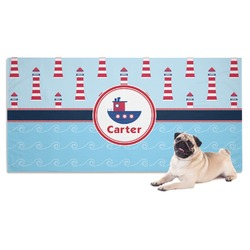Light House & Waves Pet Towel (Personalized)