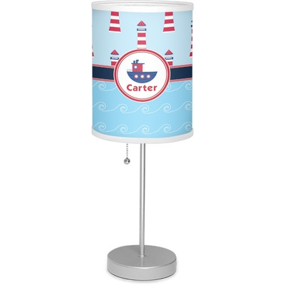 """Light House & Waves 7"""" Drum Lamp with Shade (Personalized)"""