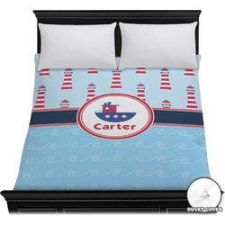 Light House & Waves Duvet Cover (Personalized)