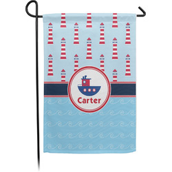 Light House & Waves Garden Flag - Single or Double Sided (Personalized)