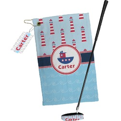 Light House & Waves Golf Towel Gift Set (Personalized)