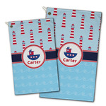 Light House & Waves Golf Towel - Full Print w/ Name or Text