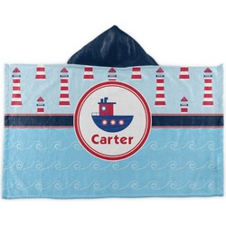 Light House & Waves Kids Hooded Towel (Personalized)