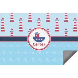 Light House & Waves Indoor / Outdoor Rug (Personalized)