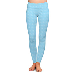 Light House & Waves Ladies Leggings - Large (Personalized)