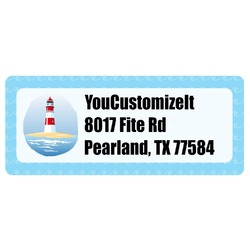 Light House & Waves Return Address Label (Personalized)
