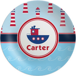 Light House & Waves Melamine Plate (Personalized)