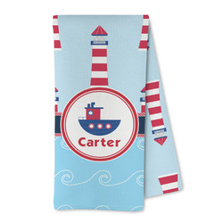 Light House & Waves Microfiber Kitchen Towel (Personalized)