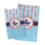 Light House & Waves Microfiber Golf Towel (Personalized)