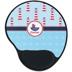 Light House & Waves Mouse Pad with Wrist Support